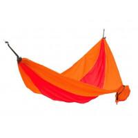 Houpací síť KING CAMP Parachute 270 x 130 cm - oranžovo-červená