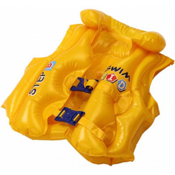Nafukovací záchranná vesta pro děti Jilong 46X42 cm - žlutá