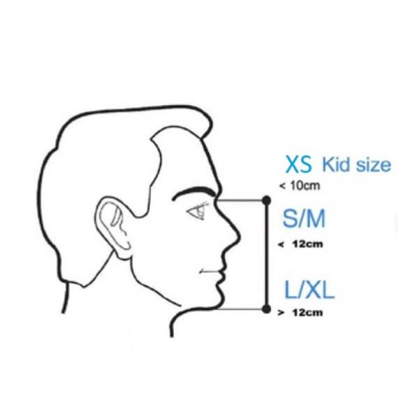 Celoobličejová maska na šnorchlování MASTER XS - růžová
