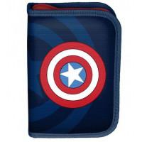 Penál s příslušenstvím PASO Captain America 19,5 x 13 x 3,5 cm - černý