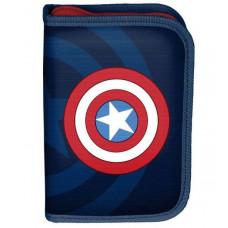Penál s příslušenstvím PASO Captain America 19,5 x 13 x 3,5 cm - černý Preview
