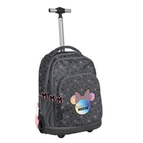 Školní set PASO Minnie Mouse školní taška na kolečkách + penál + sáček na tělocvik