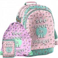 Školní set PASO SEE GOOD IN ALL THINGS - školní taška + penál + sáček na tělocvik