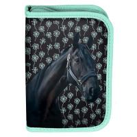 Penál s příslušenstvím PASO HORSE - černo-zelený
