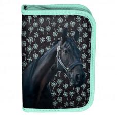 Penál s příslušenstvím PASO HORSE - černo-zelený Preview