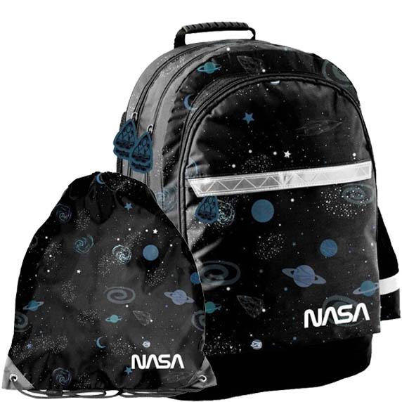 PASO školní set NASA - školní taška + sáček na tělocvik