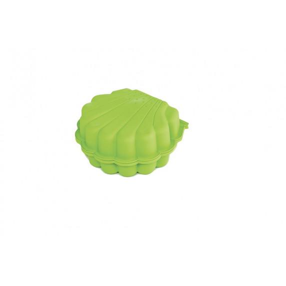 Dvoustranné pískoviště ve tvaru Mušle - Zelené Inlea4Fun