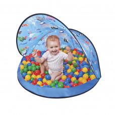 Tent Blue Stan s míčky - modrý  Inlea4Fun Preview