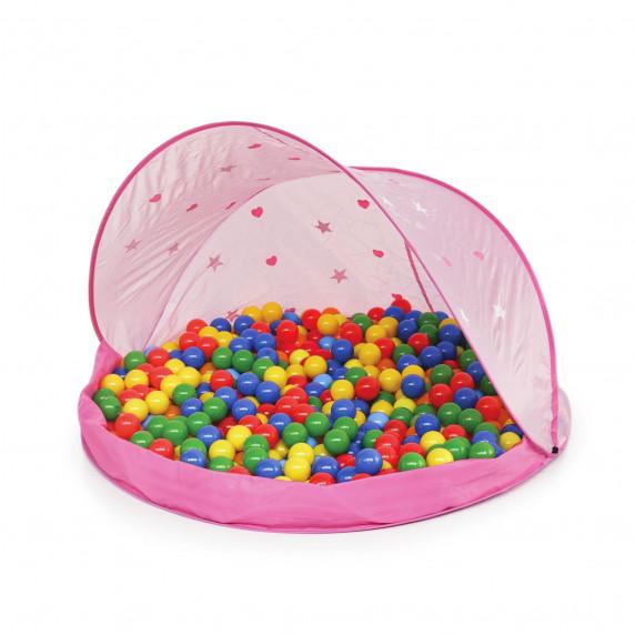 Tent Pink Stan s míčky - růžový  Inlea4Fun