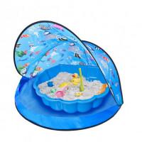 Tent Blue Stan na pláž a pískoviště - Modré Inlea4Fun
