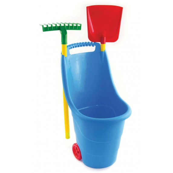 Zahradní vozík s nářadím na kolečkách pro děti Inlea4Fun