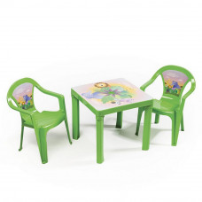 2 židličky + 1 stolek - Zelený Inlea4Fun T02630-T02631 Preview