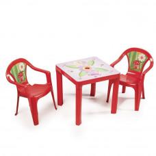 2 židličky + 1 stolek - Červený Inlea4Fun T02630-T02631 Preview