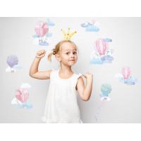 Dekorace na zeď BALLONS - Balónky růžové