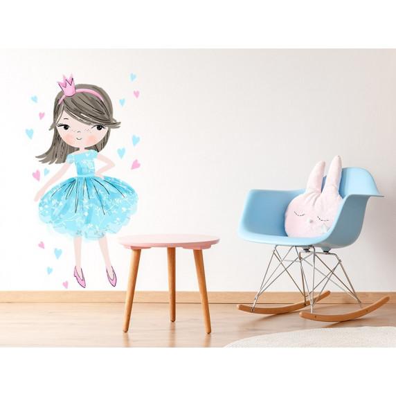 Dekorace na zeď CHARACTERS Princess - Princezna modrá