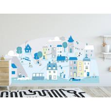 Dekorace na zeď MINT SMALL TOWN 178 x 86 cm - L Preview