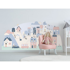Dekorace na zeď PINK SMALL TOWN 178 x 86 cm - L Preview