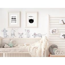 Dekorace na zeď ANIMALS Mice Family - Myší rodina Preview