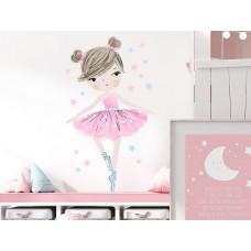 Dekorace na zeď CHARACTERS Ballerina - balerínky růžová Preview