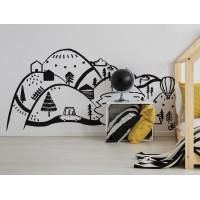 Dekorace na zeď BLACK MOUNTAINS 180 x 90 cm - L