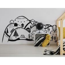 Dekorace na zeď BLACK MOUNTAINS 180 x 90 cm - L Preview