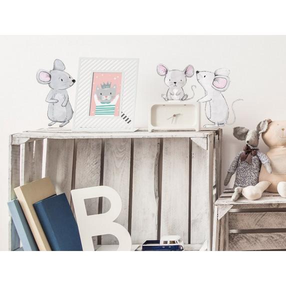 Dekorace na zeď ANIMALS Mice Family - Myší rodina