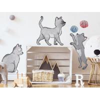 Dekorace na zeď ANIMALS Cats - Kočičky