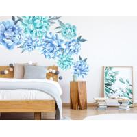 Dekorace na zeď SECRET GARDEN Peony - Květiny pivoňky modré