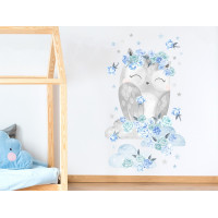 Dekorace na zeď SECRET GARDEN Owl - Sovička modrá
