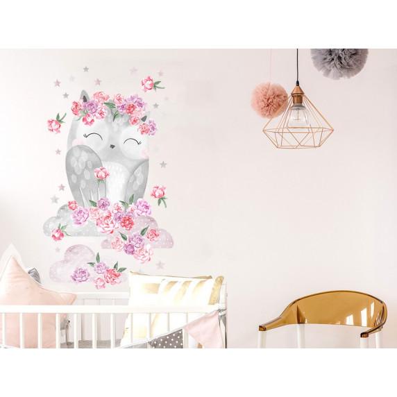 Dekorace na zeď SECRET GARDEN Owl - Sovička růžová