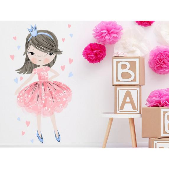 Dekorace na zeď CHARACTERS Princess - Princezna růžová