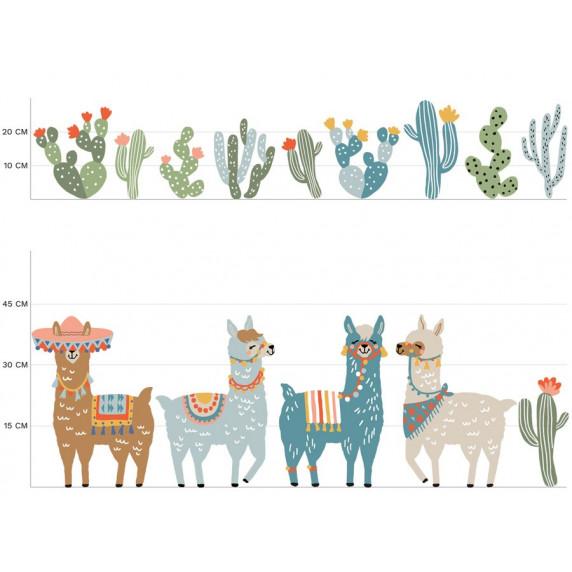 Dekorace na zeď ANIMALS Llamas - Láma hnědá
