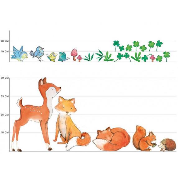 Dekorace na zeď ANIMALS Forest Friends - Lesní zvířátka