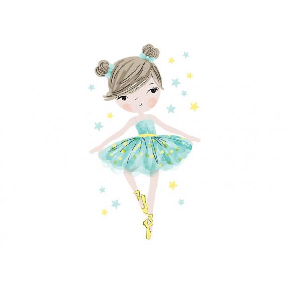 Dekorace na zeď CHARACTERS Ballerina - balerínky mátová
