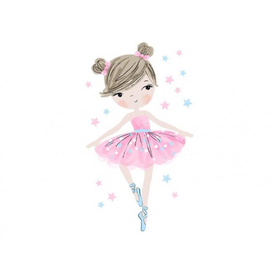 Dekorace na zeď CHARACTERS Ballerina - balerínky růžová