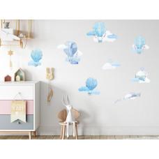 Dekorace na zeď BALLONS - Balónky modré Preview