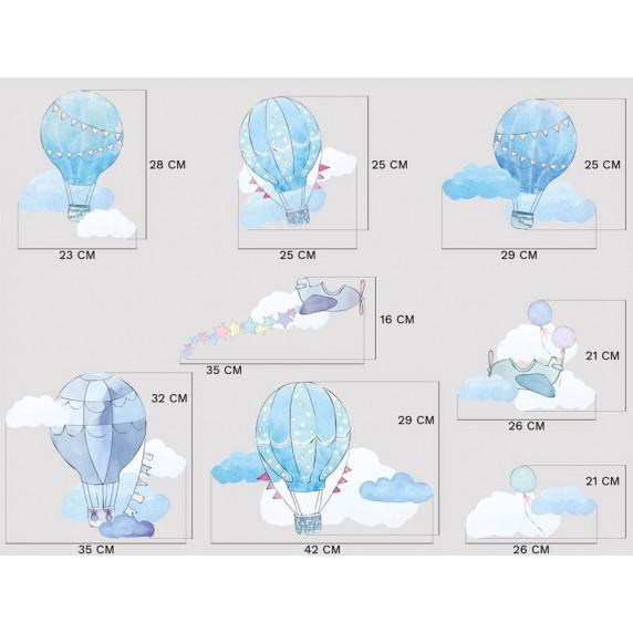 Dekorace na zeď BALLONS - Balónky modré