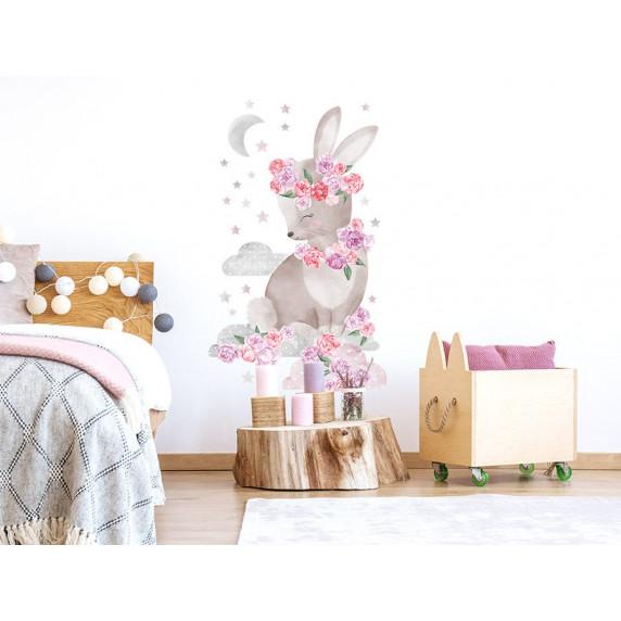 Dekorace na zeď SECRET GARDEN Rabbit - Zajíček růžový