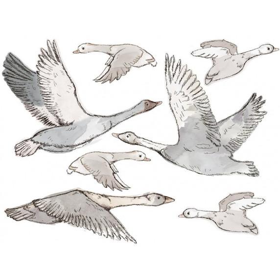 Dekorace na zeď ANIMALS Geese - Husy