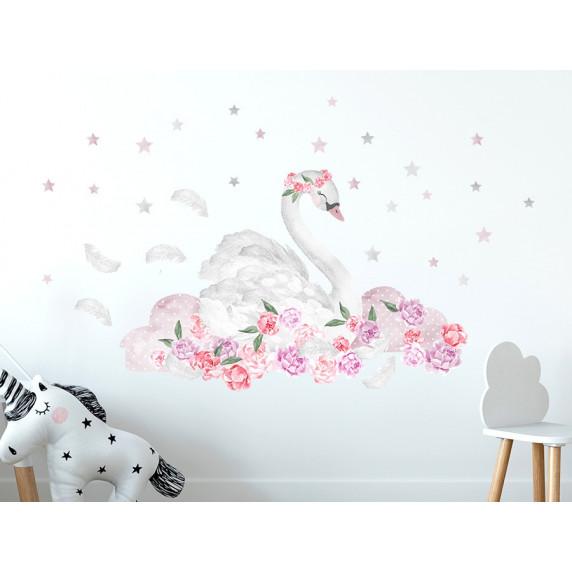 Dekorace na zeď SECRET GARDEN Swan - Labuť