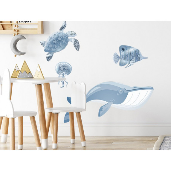 Dekorace na zeď ANIMALS Ocean - Svět oceánu