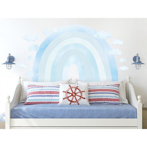 Dekorace na zeď RAINBOW - Duha - modrá