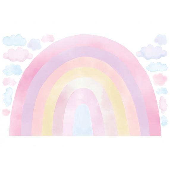 Dekorace na zeď RAINBOW - Duha - růžová