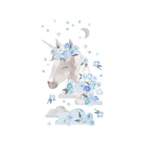 Dekorace na zeď SECRET GARDEN Unicorn - Jednorožec modrý