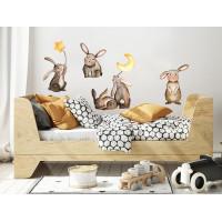 Dekorace na zeď ANIMALS Bunnies - Zajíčci