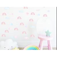 Dekorace na zeď MINI RAINBOW - Malé duhy - růžové