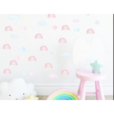 Dekorace na zeď MINI RAINBOW - Malé duhy - růžové Preview