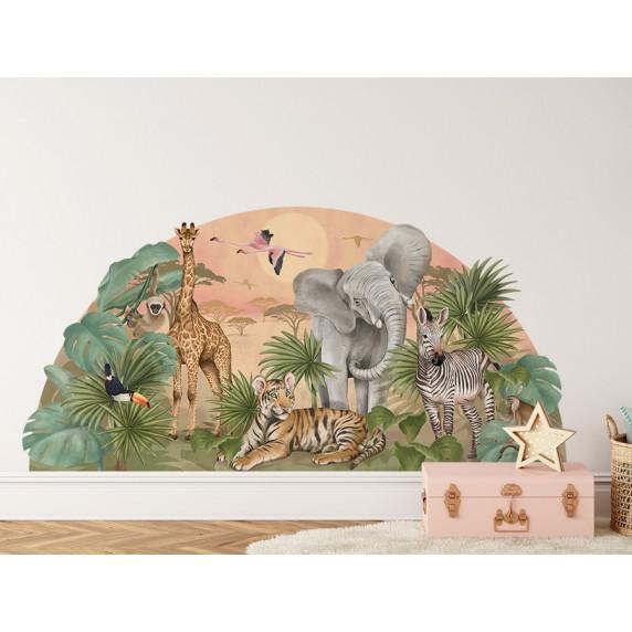 Dekorace na zeď SAFARI 161 x 79 cm