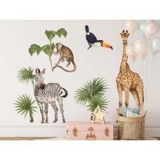 Dekorace na zeď SAFARI ANIMALS II