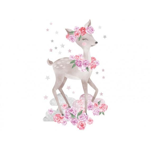 Dekorace na zeď SECRET GARDEN Roe - Srnka růžová